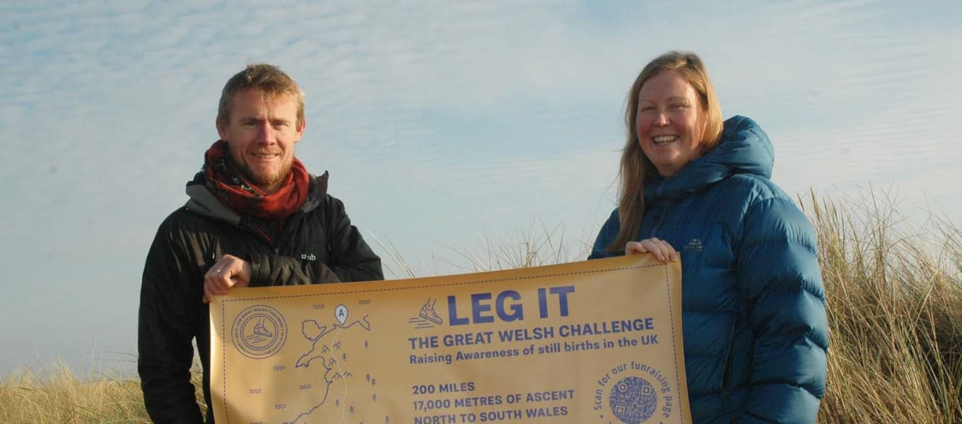 Dad takes on challenge to thank Tŷ Gobaith