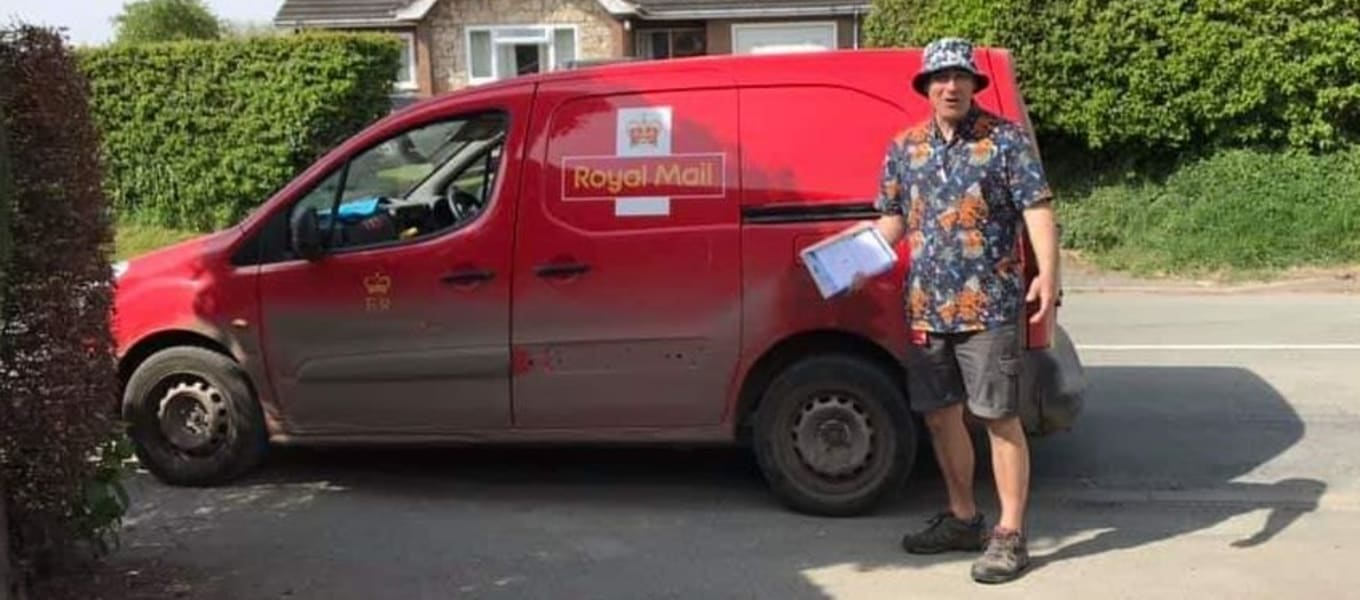 Postie Chris to do Deliveries in a Dress!
